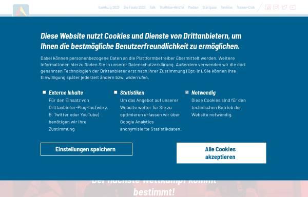 Vorschau von www.dtu-info.de, Deutsche Triathlon Union