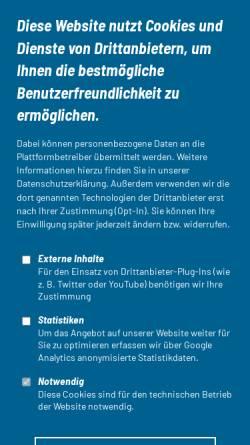 Vorschau der mobilen Webseite www.dtu-info.de, Deutsche Triathlon Union
