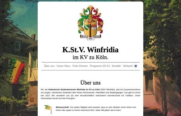 Vorschau von www.winfridia.de, Winfridia zu Köln