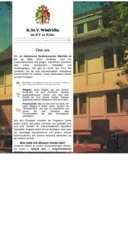 Vorschau der mobilen Webseite www.winfridia.de, Winfridia zu Köln