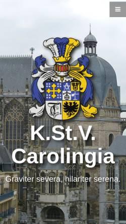 Vorschau der mobilen Webseite www.carolingia.rwth-aachen.de, Carolingia zu Aachen