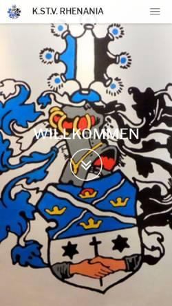 Vorschau der mobilen Webseite www.kstv-rhenania.de, Rhenania zu Erlangen