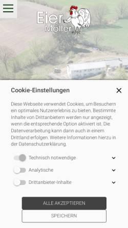 Vorschau der mobilen Webseite www.eiermoeller.de, Eier Möller