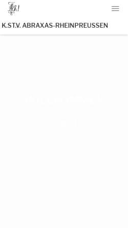 Vorschau der mobilen Webseite www.abraxas-rheinpreussen.de, Abraxas-Saxonia zu Dresden
