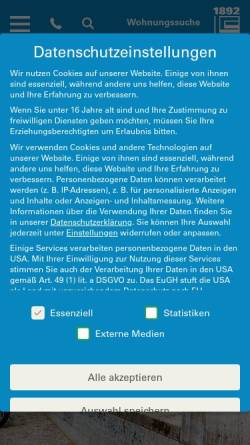 Vorschau der mobilen Webseite 1892.de, Berliner Bau- und Wohnungenossenschaft von 1892 eG