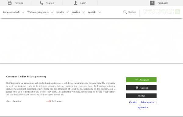 Vorschau von www.charlotte-bau.de, Charlottenburger Baugenossenschaft eG