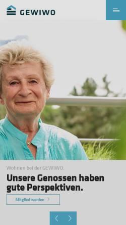 Vorschau der mobilen Webseite www.gewiwo.de, GEWIWO Berlin Wittenauer Wohnungsbaugenossenschaft eG