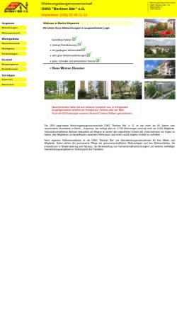 Vorschau der mobilen Webseite berliner-baer-koepenick.de, Wohnungsbaugenossenschaft GWG Berliner Bär eG