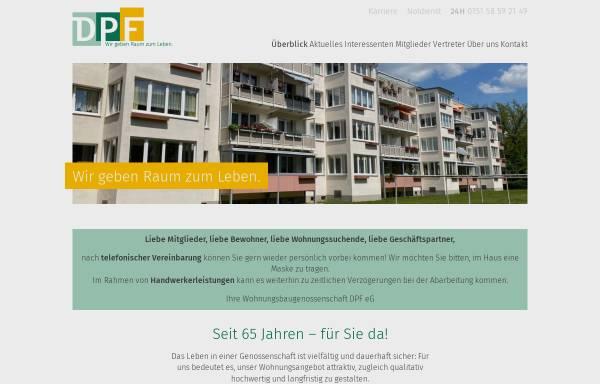 Vorschau von www.dpfonline.de, Wohnungsbaugenossenschaft DPF eG