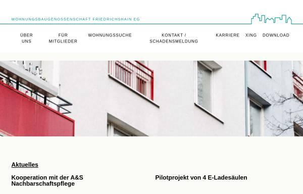 Vorschau von www.wbg-friedrichshain-eg.de, Wohnungsbaugenossenschaft Friedrichshain eG