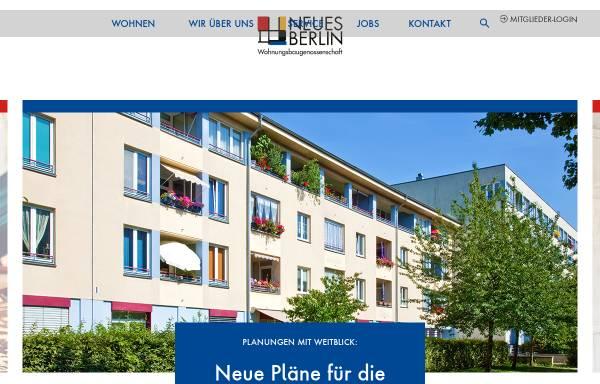 Vorschau von www.neues-berlin.de, Wohnungsbaugenossenschaft Neues Berlin eG