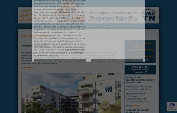 Vorschau von www.wbg-treptow-nord.de, Wohnungsbaugenossenschaft Treptow-Nord eG