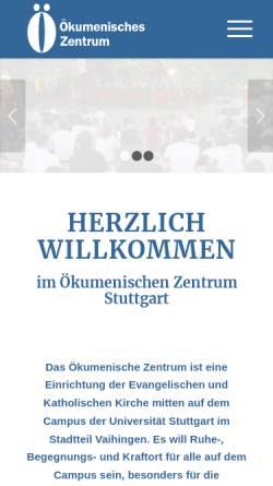 Vorschau der mobilen Webseite www.oekumenisches-zentrum.de, Ökumenisches Zentrum Stuttgart