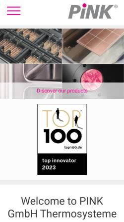 Vorschau der mobilen Webseite www.pink.de, PINK GmbH