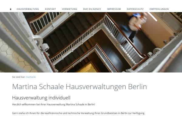 Vorschau von www.immobilien-verwaltung-berlin.de, Martina Schaale Hausverwaltungen