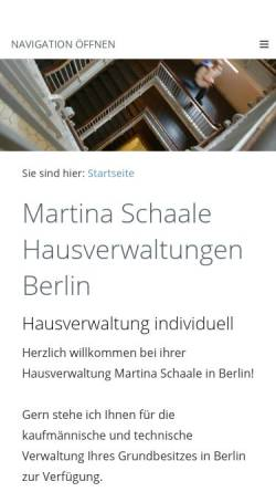 Vorschau der mobilen Webseite www.immobilien-verwaltung-berlin.de, Martina Schaale Hausverwaltungen