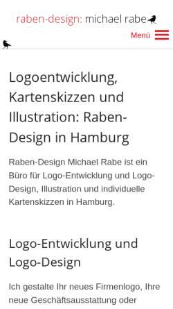 Vorschau der mobilen Webseite www.raben-design.de, Raben-Design