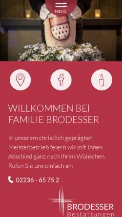 Vorschau der mobilen Webseite www.bestattungen-brodesser.de, Brodesser Bestattungen oHG