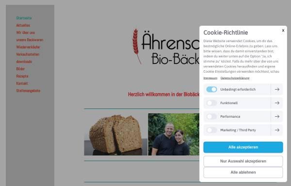 Vorschau von www.aehrensache.de, Ährensache Biobäckerei GmbH