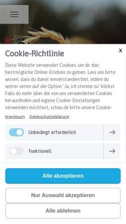 Vorschau der mobilen Webseite www.aehrensache.de, Ährensache Biobäckerei GmbH