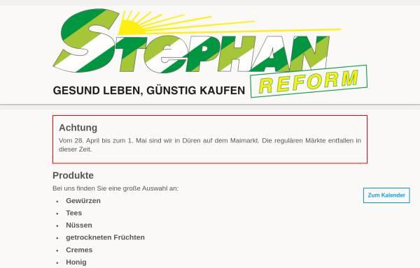 Vorschau von www.stephan-reform.de, Stephan-Reform