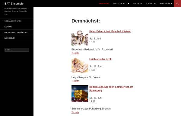 Vorschau von www.bat-ensemble.de, Bremer Amateur Theater Ensemble