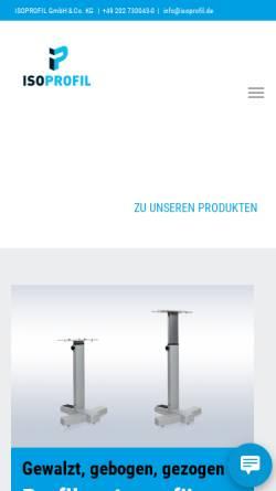 Vorschau der mobilen Webseite www.isoprofil.de, IsoProfil GmbH & Co.