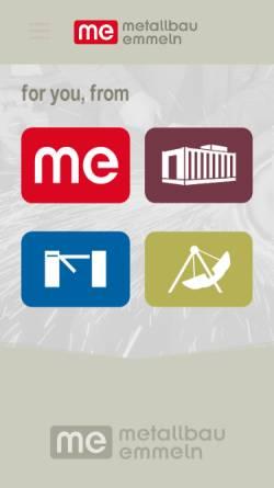 Vorschau der mobilen Webseite www.metallbau-emmeln.de, Metallbau Emmeln GmbH & Co. KG