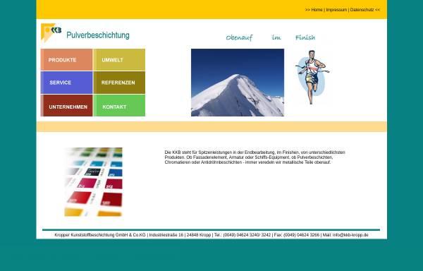 Vorschau von www.kkb-kropp.de, Kropper Kunststoffbeschichtung GmbH & Co. KG