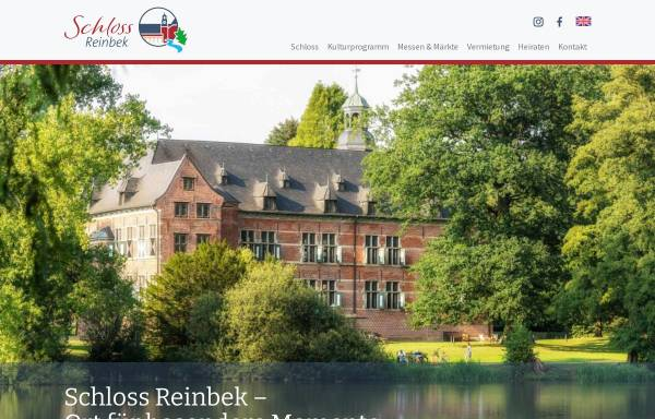 Vorschau von www.schloss-reinbek.org, Schloss Reinbek - Offizielle Homepage