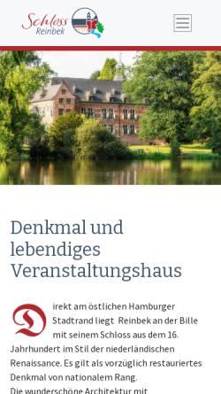 Vorschau der mobilen Webseite www.schloss-reinbek.org, Schloss Reinbek - Offizielle Homepage