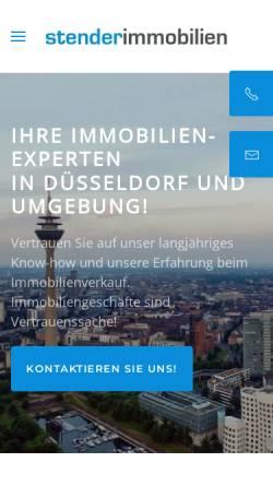 Vorschau der mobilen Webseite www.stender-immobilien.de, Stender Immobilien
