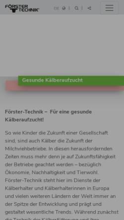 Vorschau der mobilen Webseite www.foerster-technik.de, Förster Technik GmbH