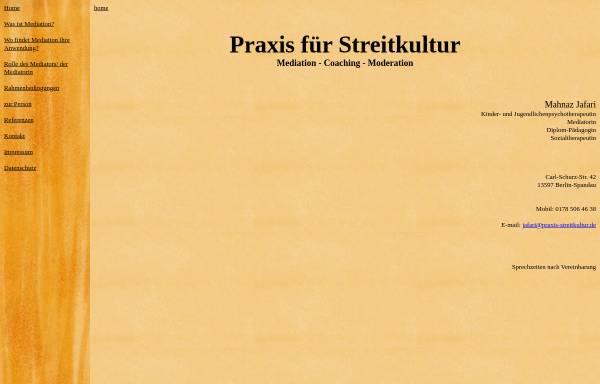 Vorschau von www.praxis-streitkultur.de, Mahnaz Jafari.