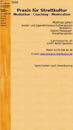 Vorschau der mobilen Webseite www.praxis-streitkultur.de, Mahnaz Jafari.