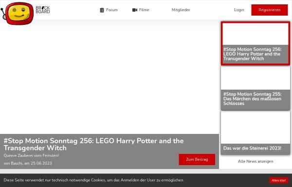 Vorschau von www.brickboard.de, brickboard - das Forum der deutschen Brickfilmer
