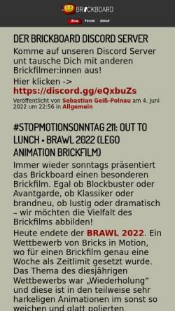 Vorschau der mobilen Webseite www.brickboard.de, brickboard - das Forum der deutschen Brickfilmer