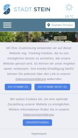 Vorschau der mobilen Webseite www.stadt-stein.de, Stein