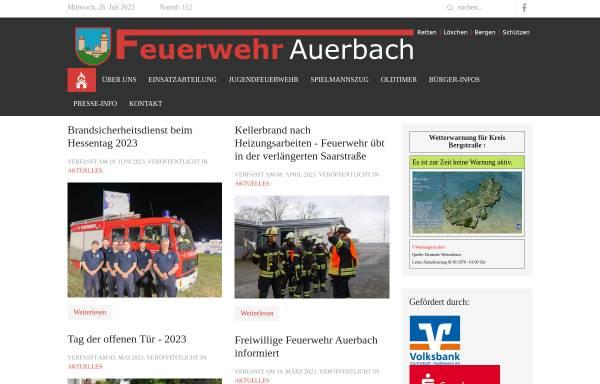 Vorschau von ff-auerbach.de, Freiwillige Feuerwehr Auerbach