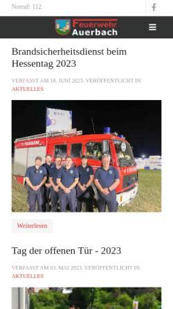 Vorschau der mobilen Webseite ff-auerbach.de, Freiwillige Feuerwehr Auerbach
