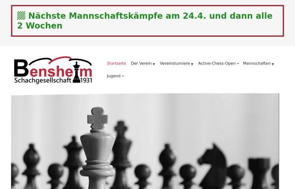 Vorschau von www.sg31bensheim.de, Schachgesellschaft 1931 Bensheim