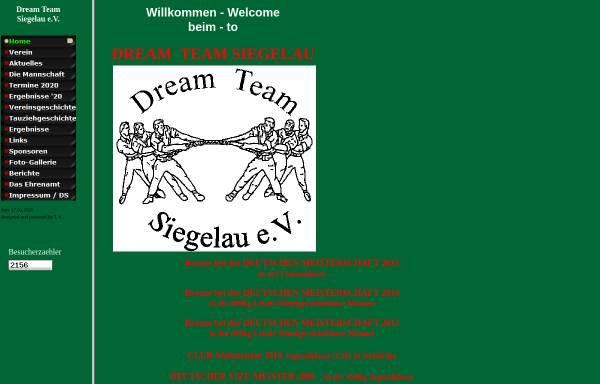 Vorschau von www.dreamteam-siegelau.de, Dream Team Siegelau e.V.