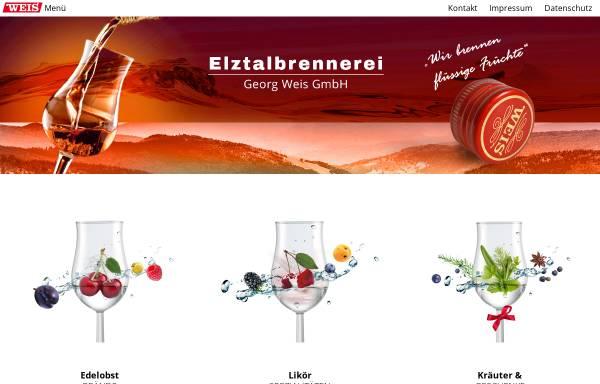 Vorschau von www.elztalbrennerei.de, Elztalbrennerei Georg Weis GmbH