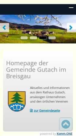 Vorschau der mobilen Webseite www.gutach.de, Gemeinde Gutach im Breisgau