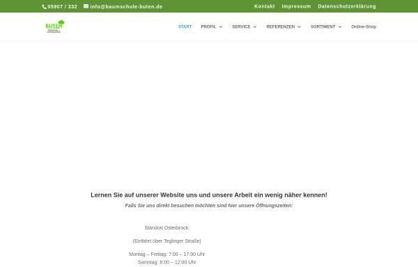 Vorschau von www.baumschule-buten.de, Baumschule Buten