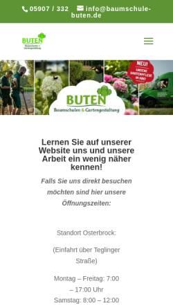 Vorschau der mobilen Webseite www.baumschule-buten.de, Baumschule Buten