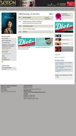 Vorschau der mobilen Webseite www.babylon-kino-fuerth.de, Babylon Kino