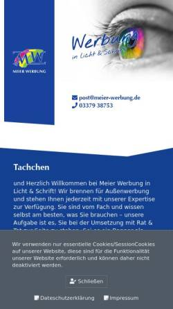 Vorschau der mobilen Webseite www.meier-werbung.de, Meier Werbung