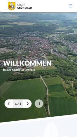 Vorschau der mobilen Webseite www.gruensfeld.de, Grünsfeld