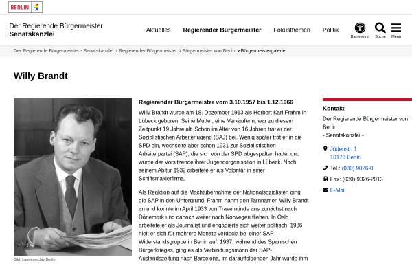 Vorschau von www.berlin.de, Willy Brandt - Berlin.de
